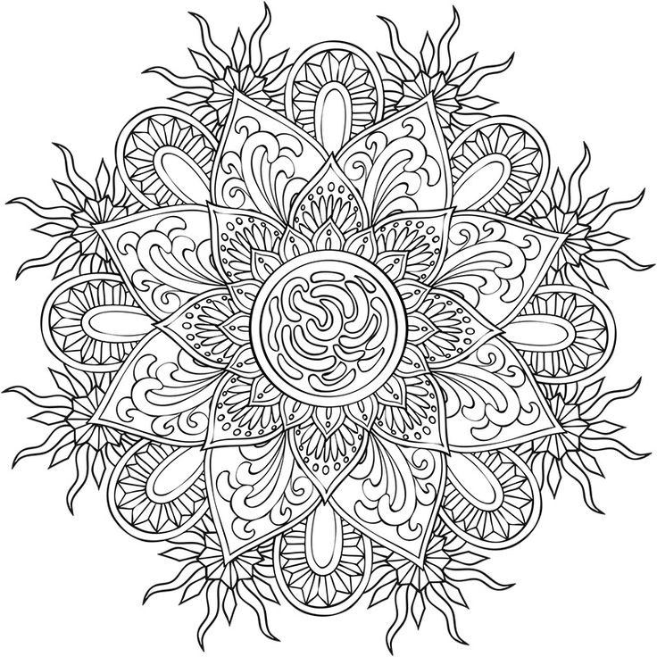 Zen Mandalas Coloring Book : 993 best para pintar☆ images on pinterest