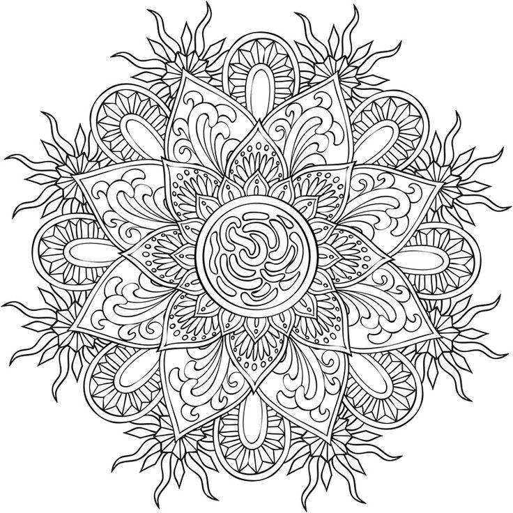 Mandalas à colorier - Créapassions