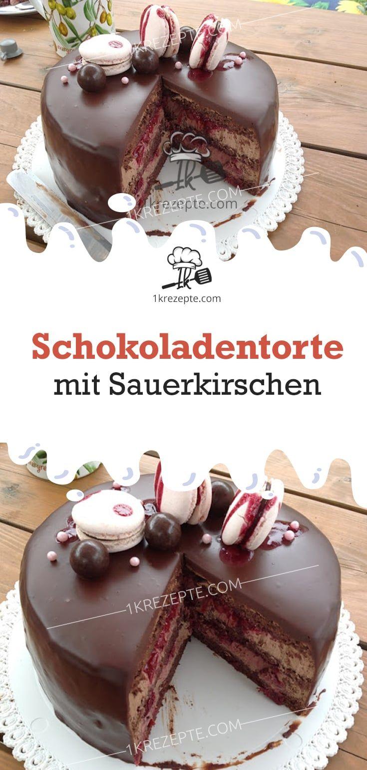Schokoladentorte mit Sauerkirschen