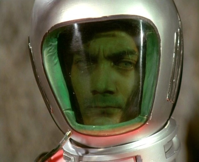 "UFO TV series. 1st version helmet ""I mean no harm! I only want your organs!"""