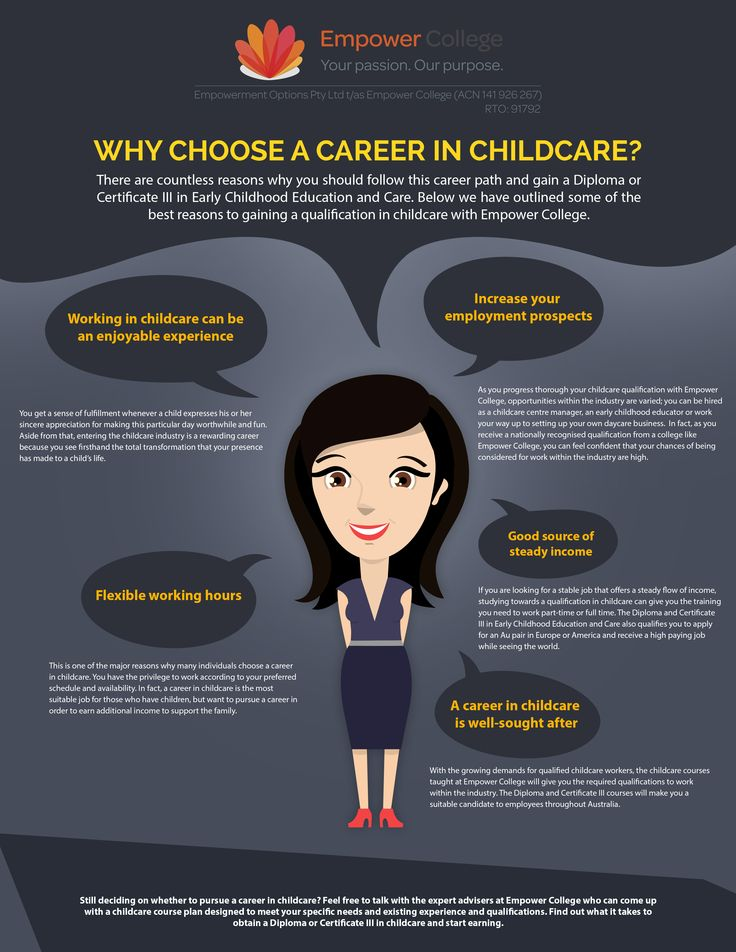 Why choose a career in childcare? #childcare #career #education
