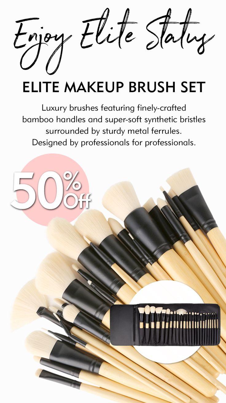 Elite 24 Piece Makeup Brush Set in 2020 Makeup brush set
