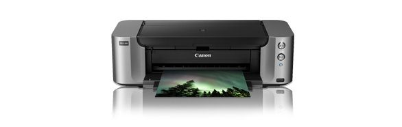 PIXMA PRO-100  Pigment ink prints, prints on ANYTHING - saw examples on wood veneer, silk, you name it. AMAZING