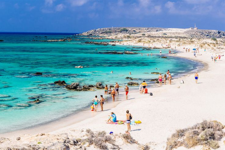 Elafonissi Beach Crete, famous for its white sand | The best #beaches and bays in #Crete, #Greece | Weather2Travel.com #travel #europe #beachporn