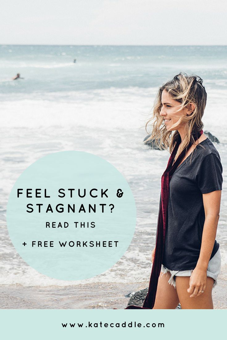 Why you feel stuck and stagnant in life and a free worksheet to help you move forward | personal growth | stuck in life | how to have a happy life
