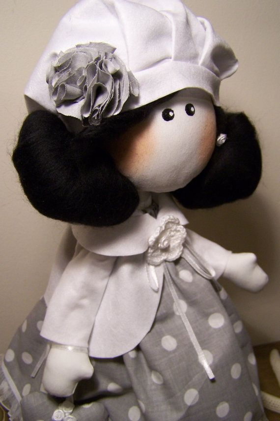 Charming elf girl mascot holding little heart with your chosen name on it. Pretty doll made of high quality cotton dressed in beautiful handmade clothes.