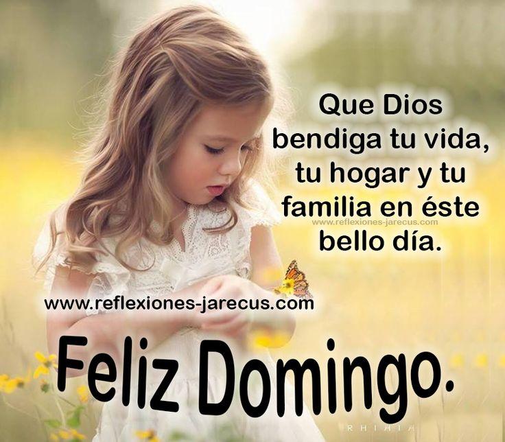 Feliz domingo, que Dios bendiga tu vida, tu hogar y tu familia en este bello día.