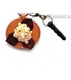 Hydrangea Leather Flower Earphone Jack Accessory