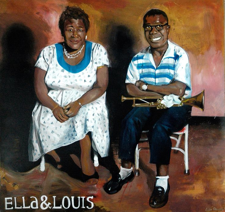 Ella and louis  Oil on wood By Lukas Ø. Damgaard www.LukasDamgaard.dk