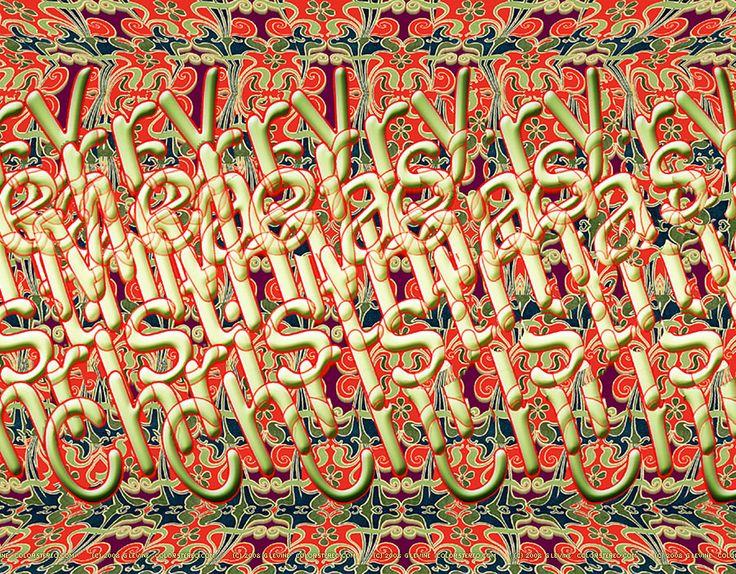 3D Stereograms - Merry Christmas