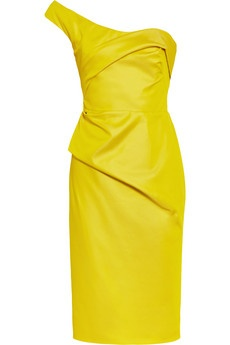 obsessed with this yellow dress by lela rose!