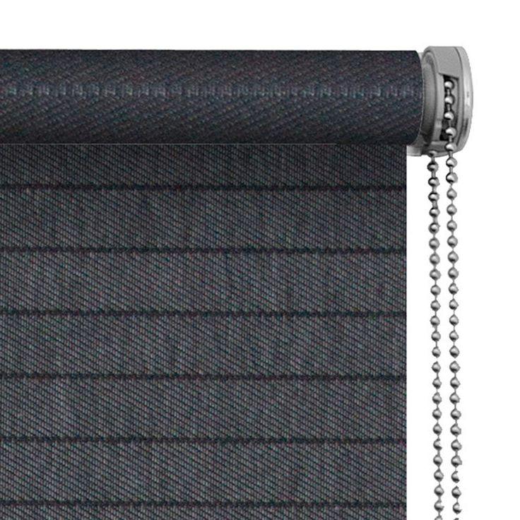 Le Noir & Blanc rolgordijn 180x190cm 3627 antraciet jacquard
