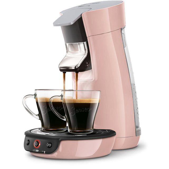 Cafetière à dosette SENSEO VIVA CAFE HD7829/31 ROSE POUDRE SENSEO : prix, avis & notation, livraison.  La pause-café devient encore plus agréable grâce à la machine à café SENSEO® Viva Café ! Avec son design iconique, elle offre un délicieux café et une nouvelle expérience gustative sur simple pression d'un bouton. Caractéristiques de la cafetière à dosettes SENSEO® Viva HD7829/31 : Nouvelle technologie Booster d'arômes Grâce à la technologie SENSEO® booster d'arômes, obtenez le meilleur de…