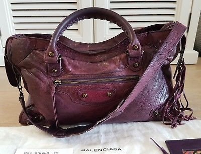 703a357ef80 Balenciaga Sapphire purple City bag | Aged & Quality leather ...