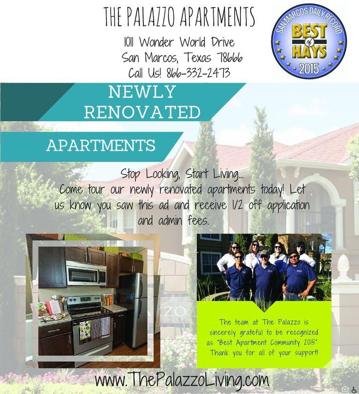 NEWLY RENOVATED APARTMENTS The Palazzo Apartments San Marcos