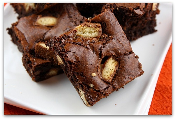 Twix brownies...made these last year in home ec but we put the Twix ...