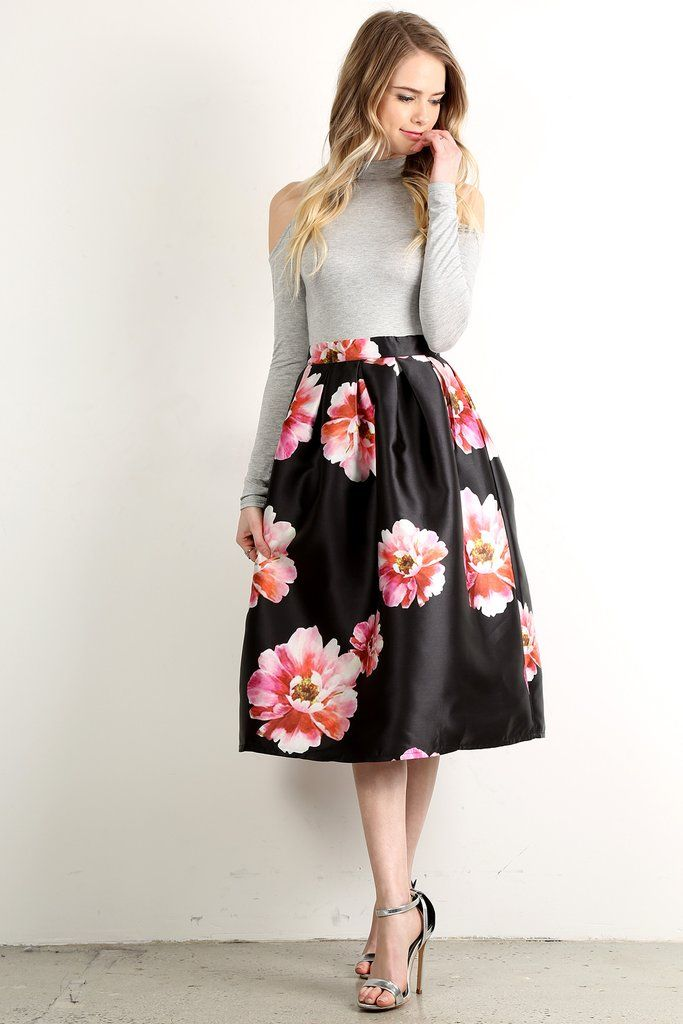 Cute Outfits With High Waisted Skirts