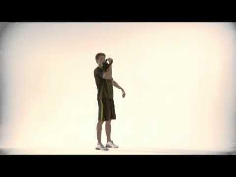 Kettlebell Thruster oefening  http://www.oefeningen-buik.nl/buikspieren-trainen-vrouwen-8kg
