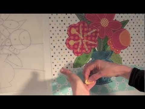 Applique with jan patek inside curves berries holly for Hand thread painting tutorial