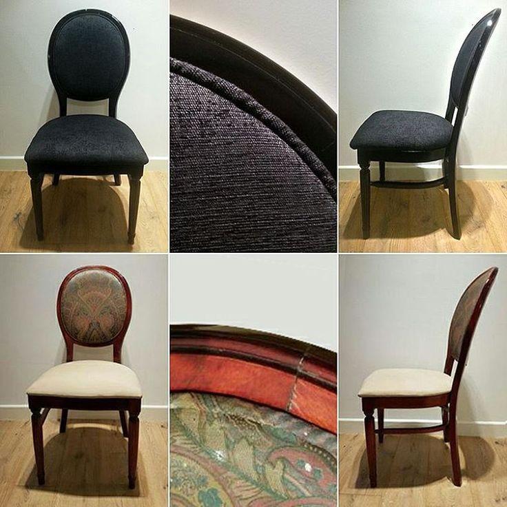 Czasem tak niewiele trzeba...:)  Tapicerowanie i odnawianie mebli to czasem lepsza zabawa niż zakup nowych. Dzięki kilku zabiegom odmładzającym komplet krzeseł nabrał nowego, nowoczesnego charakteru i prezentuje się znakomicie.  #tapicerowanie #tapicer #tkaniny #dekoracjeokienne #dekoracjetekstylne #szycienazamówienie #szycienamiare #krzesło #black #czarny #styleathomepl