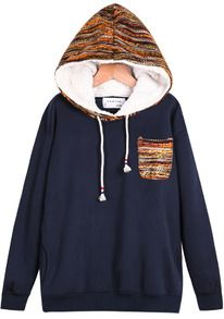 Navy Hooded Long Sleeve Pocket Sweatshirt http://us.sheinside.com/Sweatshirts-c-1773-p2-best.html