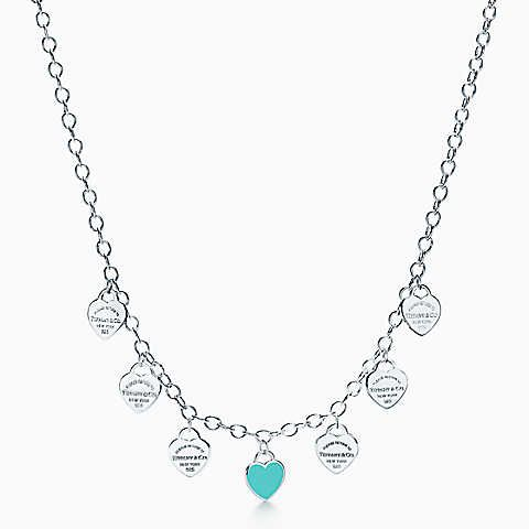 Return to Tiffany® multi-heart tag necklace in sterling silver, mini.