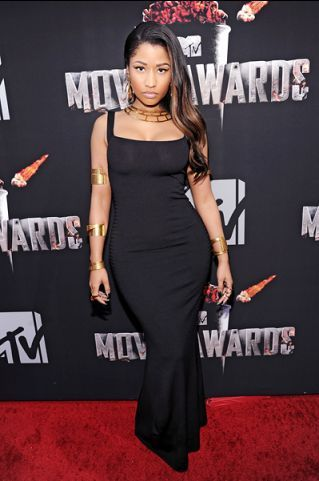 Nicki Minaj photographed on the red carpet at the 2014 MTV Movie Awards in Los Angeles. | MTV Photo Gallery
