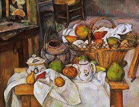 Paul Cézanne; Tavolo da cucina; 1889; olio su tela; Musée d'Orsay, Parigi.
