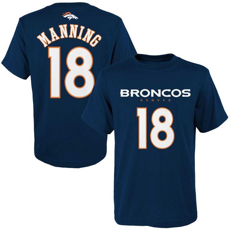 Peyton Manning Denver Broncos Youth Mainliner Name & Number T-Shirt - Navy Blue - $24.99