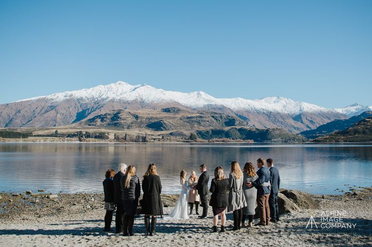 Wedding at Waterfall Creek on the western shores of Lake Wanaka offering spectacular lake and mountain views. Wedding organised by www.theweddingcompany.co.nz Photograph by www.alpineimages.co.nz