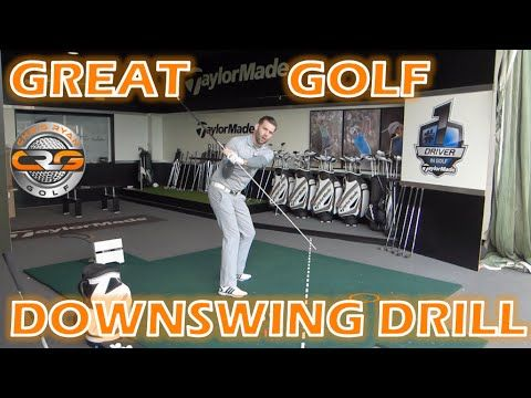 GREAT GOLF DOWNSWING DRILL - YouTube