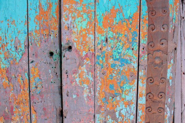 orange, turquoise, pink, purple, rust..