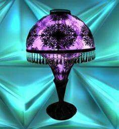 Purple side lamp