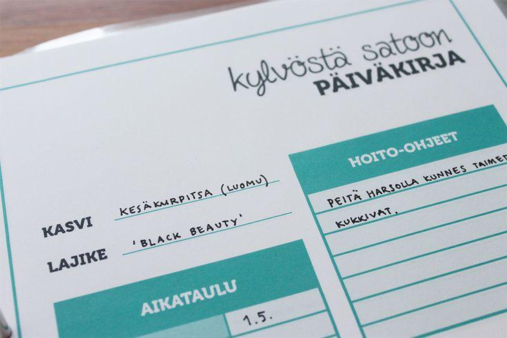 hyötyviljelijän päiväkirja