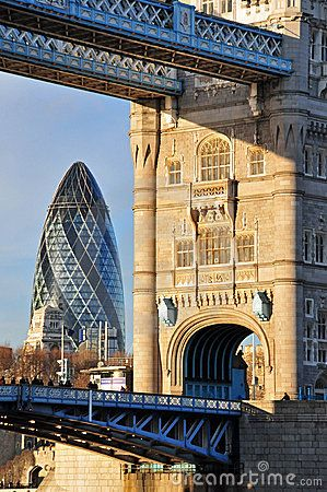Old & New London Architecture (Tower Bridge and Gherkin respectively)