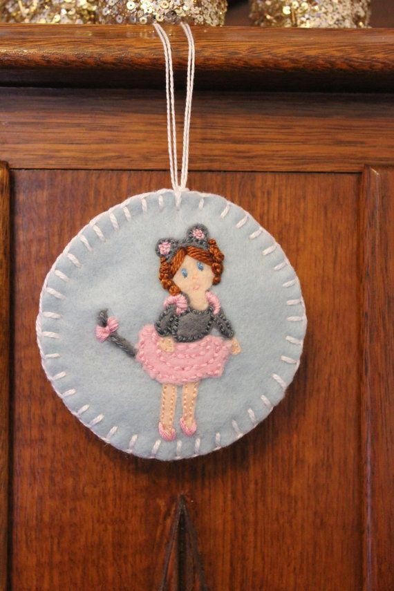 The Sugar Mouse  Nutcracker Felt Ornament by PuddleducklaneAgain