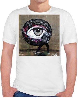 Sokak Sanatı Kendin Tasarla - Erkek Bisiklet Yaka Tişört