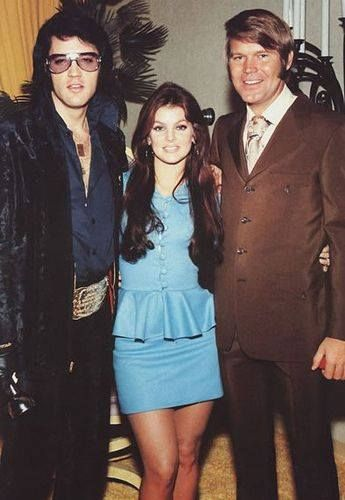 Elvis and Priscilla Presley with Glen Campbell.