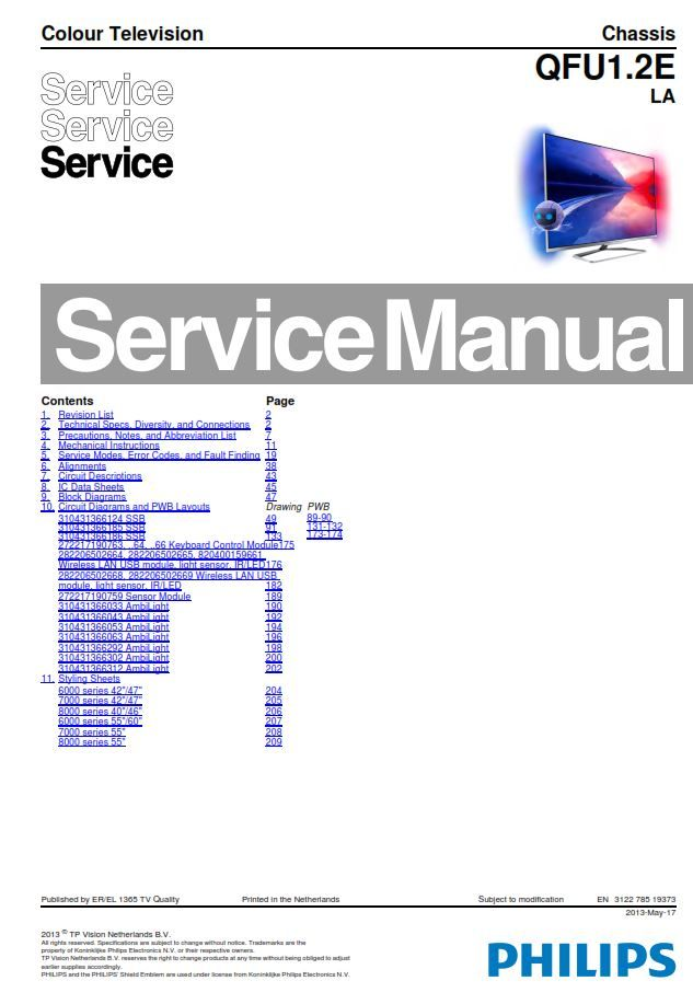 Philips 65pfl9708s Tv Service Manual And Repair Instructions Tv Services Electronic Circuit Projects Philips