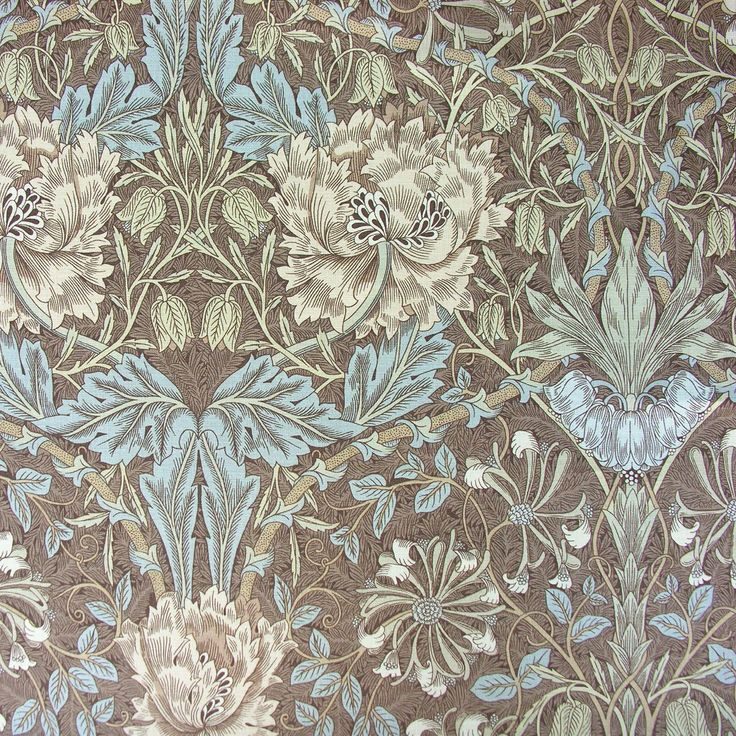 William Morris Honeysuckle and Tulip Linen Print