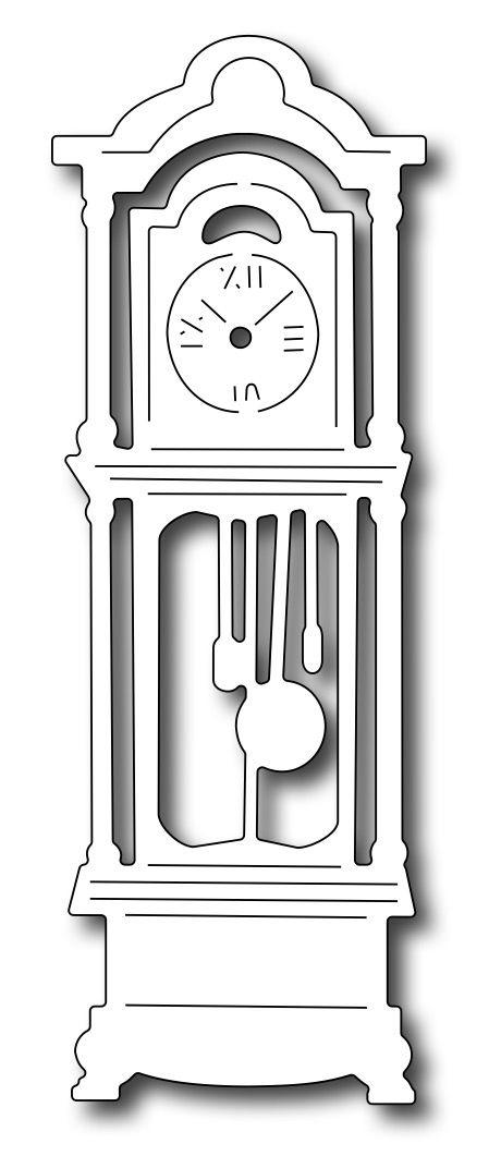 Frantic Stamper Precision Die - Grandfather Clock,$8.99
