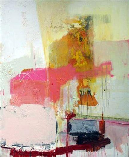 """Diane Delgado, """"Cotton Candy Love"""", mixed media on canvas"""