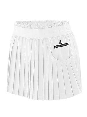 adidas by Stella McCartney Pleated Tennis Skirt White $85.00 #tennis #skirt
