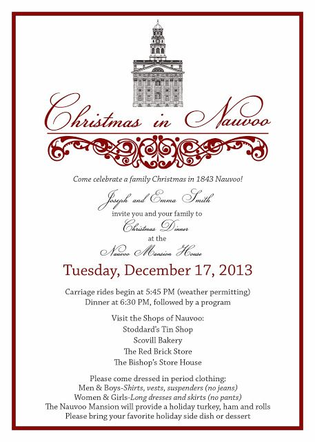 Christmas In Nauvoo - Ward Christmas Party