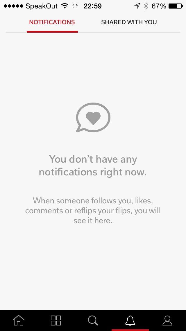 No notifications in flipboard for iPhone