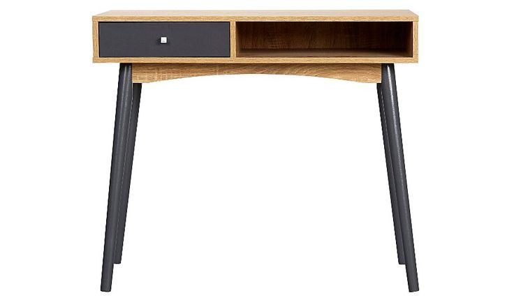 George Home Oak Effect Desk, read reviews and buy online at George at ASDA. Shop from our latest range in Home & Garden. Give your office space a touch of pe...