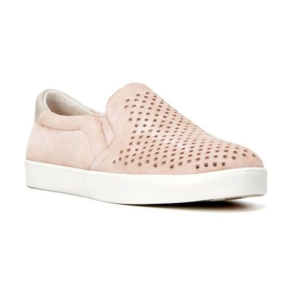 Women's Dr. Scholl's Original Collection 'scout' Slip On Sneaker (€100) ❤ liked on Polyvore featuring shoes, sneakers, seashell pink suede, dr scholls shoes, dr scholls footwear, leather sneakers, pull on sneakers and leather slip on shoes