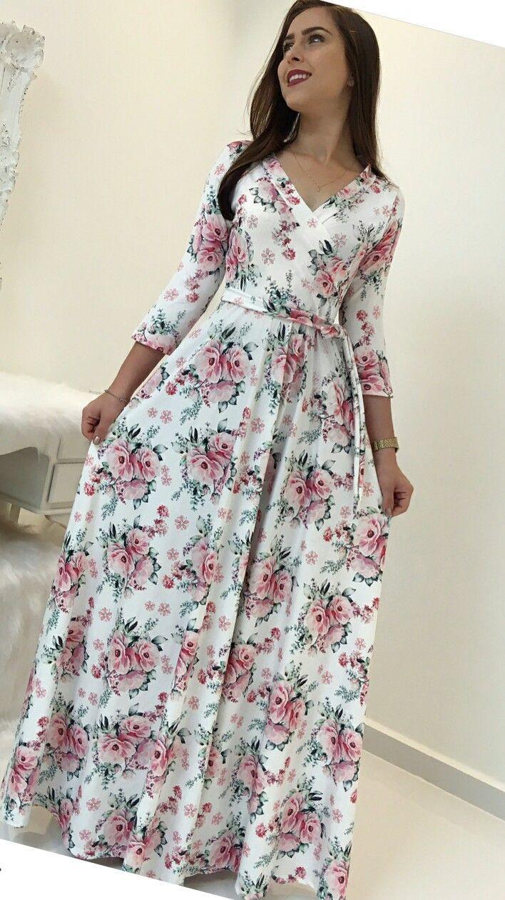 Escogido En 2019 Vestidos Floreados Vestidos Modestos Y