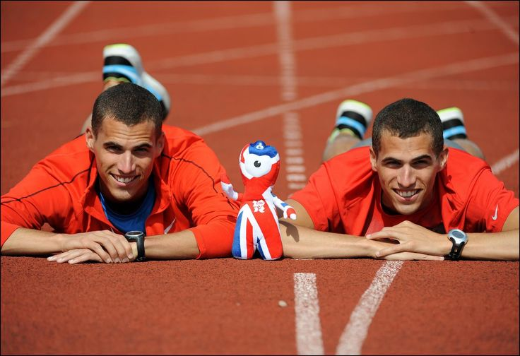 Belgian Borlée brothers, specialists for the 400 m.