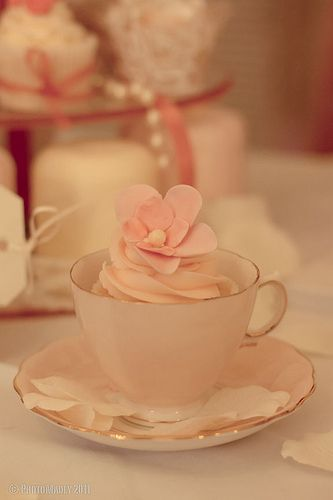 Tea party cuteness - a sweet treat to have as a wedding favour.